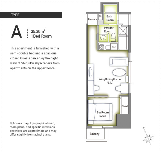 Ikebukuro duplex tower a tokyo serviced apartments for Japanese apartment plans