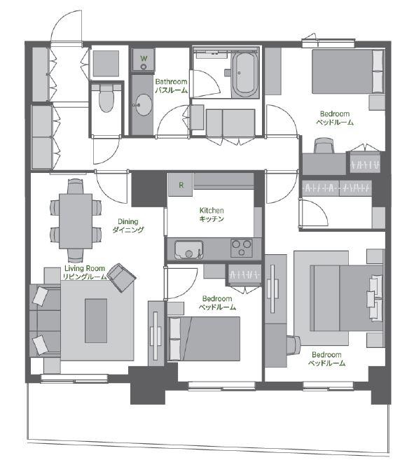 Oakwood Residence Shinagawa 3 Bedroom Tokyo Serviced